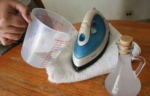 agua y vinagre para limpiar plancha